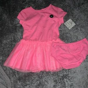Pink dress with diaper cover